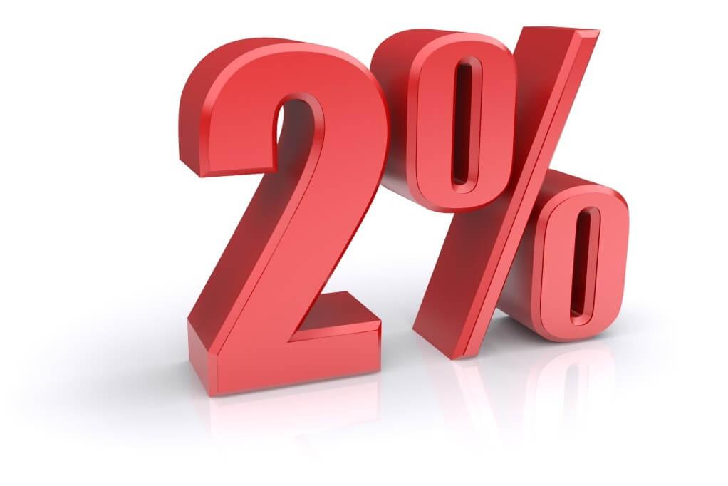Скидка 2% за заказ через сайт